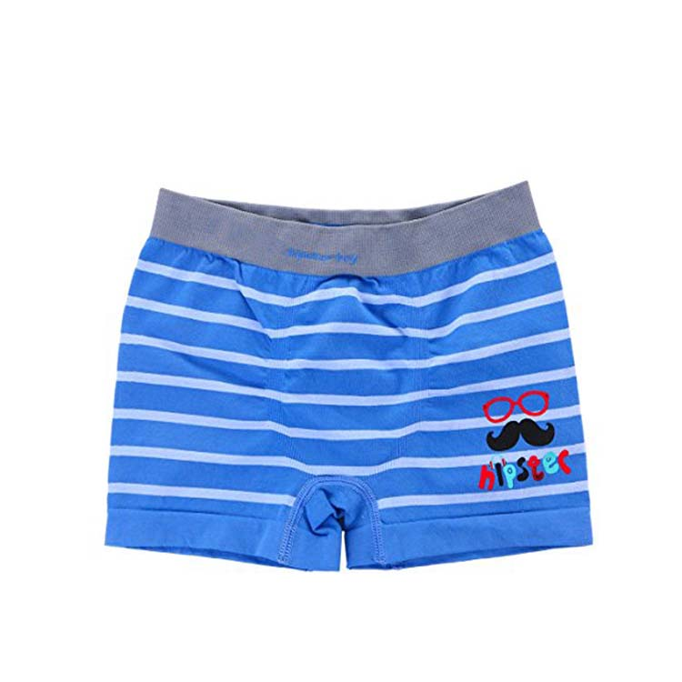 Hot Selling China Manufacturer Seamless Comfortable School Boys Boxers Stripe Design