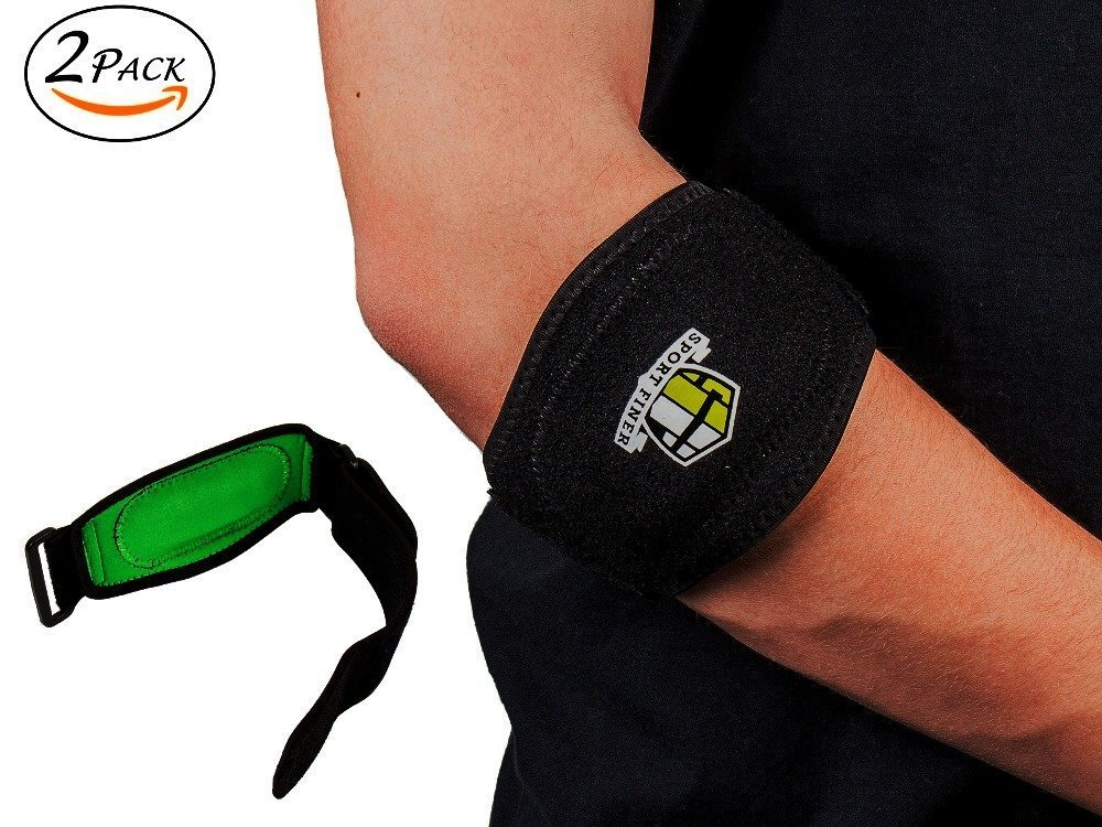 effc92521f Get Quotations · Tennis Elbow Brace Best Elbow & Forearm Band With  Compression Pad Pain Relief & Support For