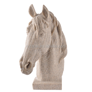 resin sand stone horse head sculpture for home garden decoration crafts wholesale 12277