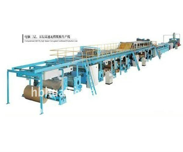 Carton Machinery Three- Layer Five-Layer Corrugated Paperboard Production Line