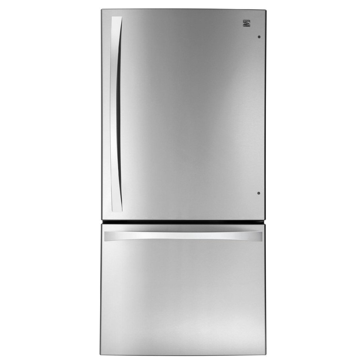 Kenmore Elite 24.1 cu. ft. Bottom Freezer Refrigerator and Kenmore Elite 5.6 cu. ft. Gas Range with True Convection bundle, both in Stainless Steel, includes delivery and hookup