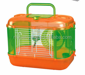super foldable plastic hamster cage removaable wheels