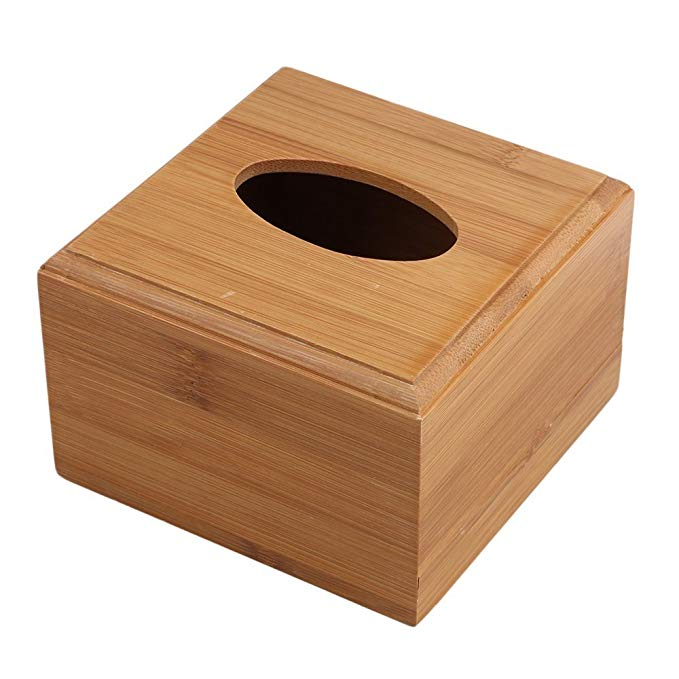 Wholesale Bamboo Wooden Tissue Holder Box