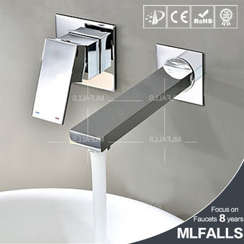 Modern Bathroom Sink Faucet Hand Washing Basin Tap Contemporary Wall
