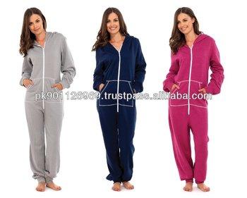 dcde82d81ebc Custom One Piece Cotton Fleece Jumpsuits For Women - Buy One Piece ...