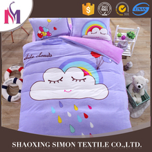 OEM wedding bed printed sheet sets 7pcs comforter set