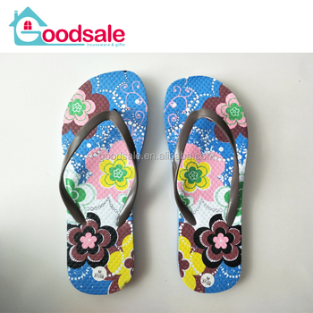 5ae9ab39a275 Stock women summer beach printing flip flops cheap EVA slippers sandals non  slip flip flops