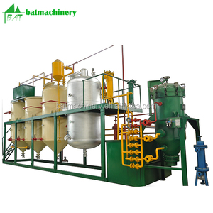 Wholesale price 5 tons batch edible cooking vegetable rice bran coconut palm fish sunflower soya mini crude oil refinery plant