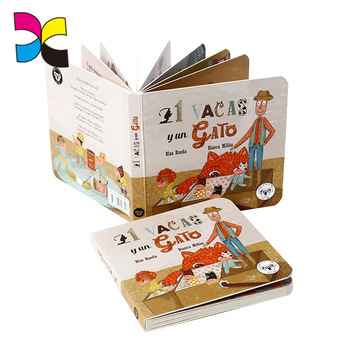 Fashion design English letter ABC word learning cardboard books for kids