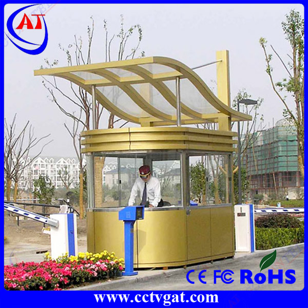Custom made beautiful-designed outdoor stainless steel guard booth prefab food kiosk CE approved