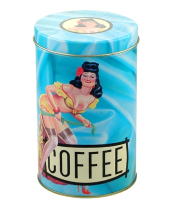 Custom Coffee Packaging in Tins Round Metal Coffee Tinbox