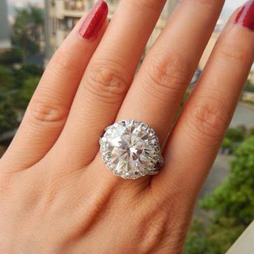 Carat Diamond Ring On Hand