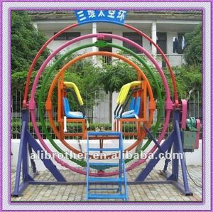 Attractions 2012 Amusement park ride Human Gyroscope 3d space loop