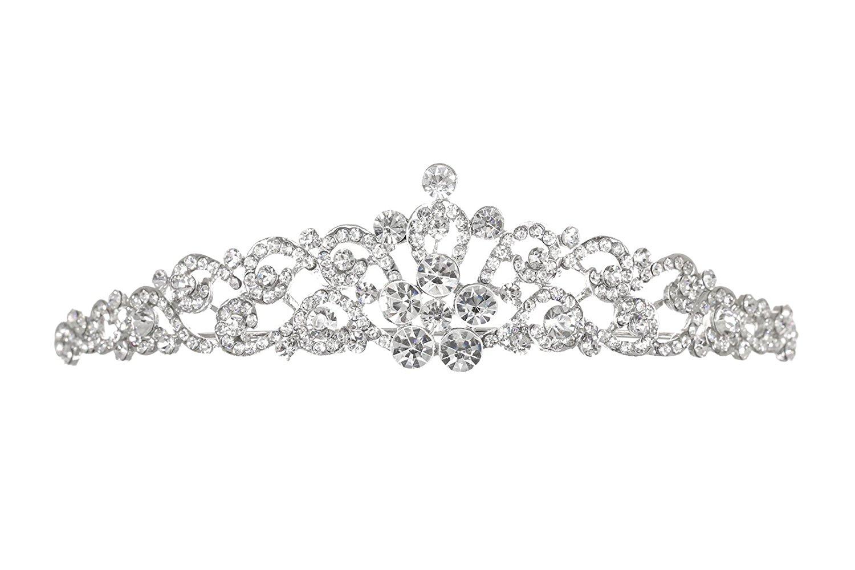 Bridal Rhinestone Crystal Prom Wedding Tiara Crown T1056