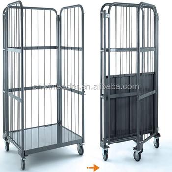 Logistique de stockage panier chariot s curit rouleau for Maison container 50000