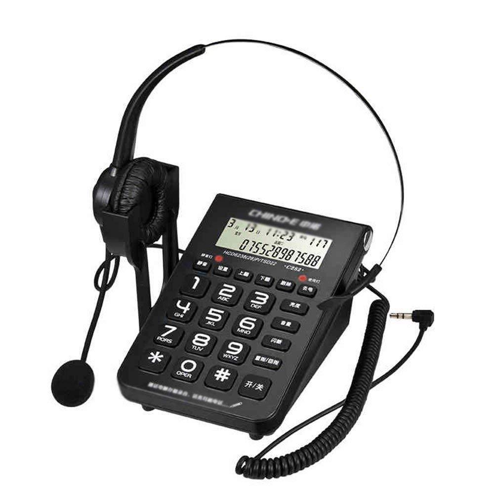 Get Quotations · Landline Telephone Call Center Customer Service Attendant  Headset Headset Office fixed black 15.6107.4cm