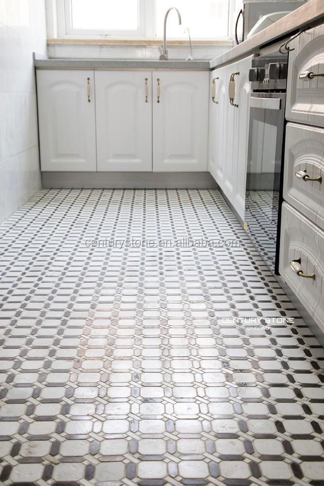 Cucina design delle camere mosaici di marmo mattonelle - Mattonelle pavimento cucina ...