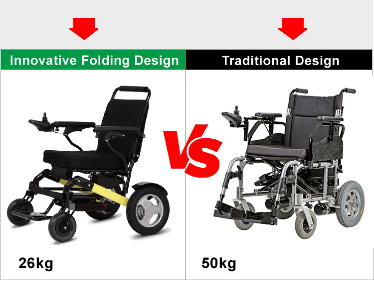 Foldable Mobility Wheelchair With 4 Wheel Chair And
