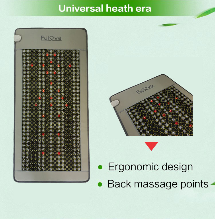 2018 new products beauty heating infrared jade health bed thermal mat tourmaline korea jade stone mattress