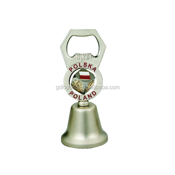 New Arrival Poland Souvenir Gifts Bottle Opener Bell Poland Spinning Multi Bells Small Metal Craft Bells