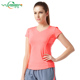 New Fashion wholesale cheap simple sexy V neck women's/girls Gym Sports T shirts