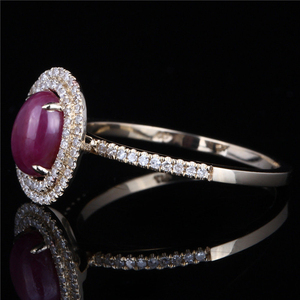 yellow gold natural ruby gemstone fashion ring