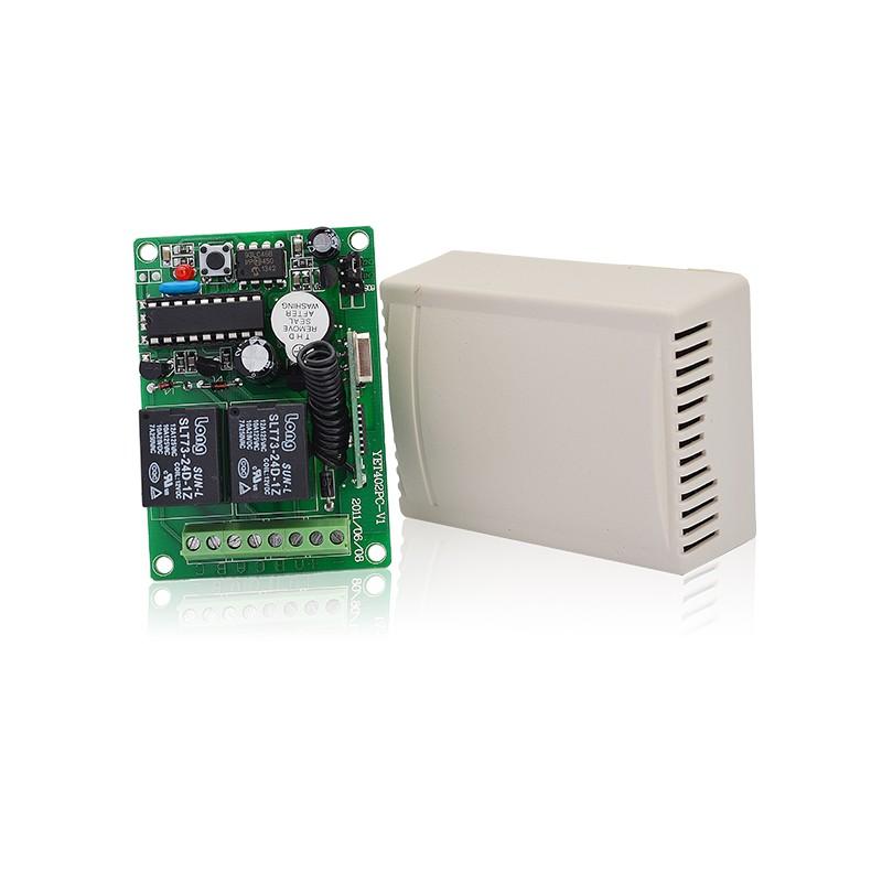 Superheterodyne Rf Transmitter & Receiver 2 Channel & Relay Remote Control  Yet402pc - Buy 24v 433 Mhz Wireless Remote Control And Receiver,2 Channel