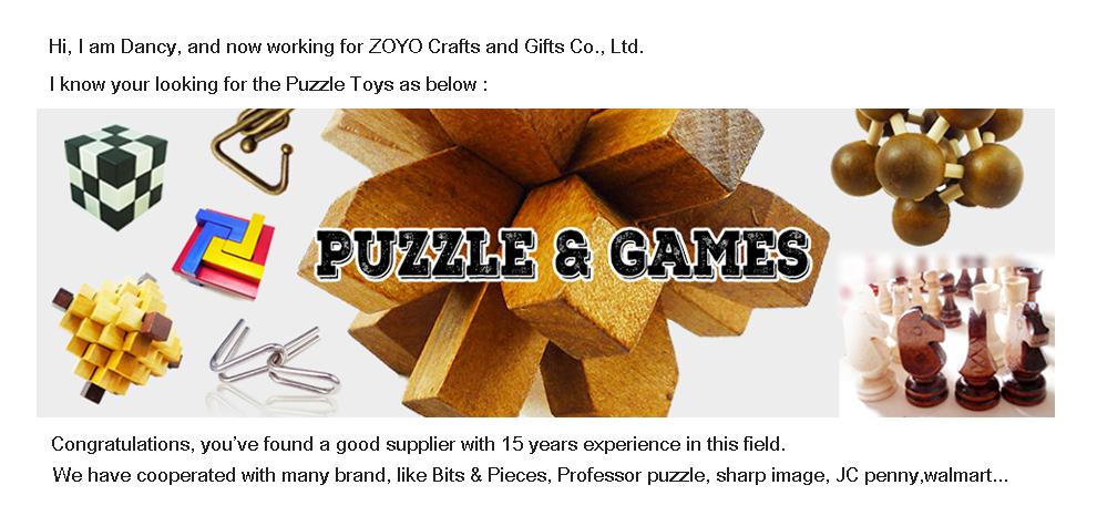 4 pièces En Métal jeu de Puzzle Jeu Cerveau Teaser puzzle en fil métallique