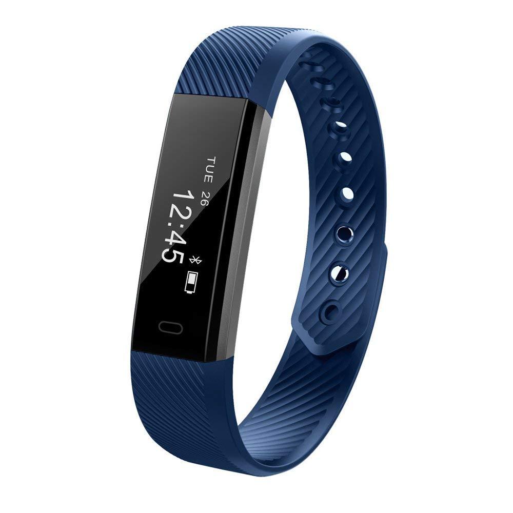 LS Fitness Tracker, Activity Tracker, Water Resistant Smart Bracelet as Step Counter, Sleep Monitor,fitnesstrackerwatch for Women Men