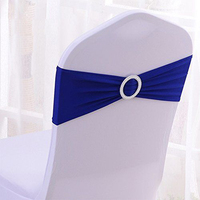 spandex lycra wedding chair bands elastic chair sash with plastic buckle