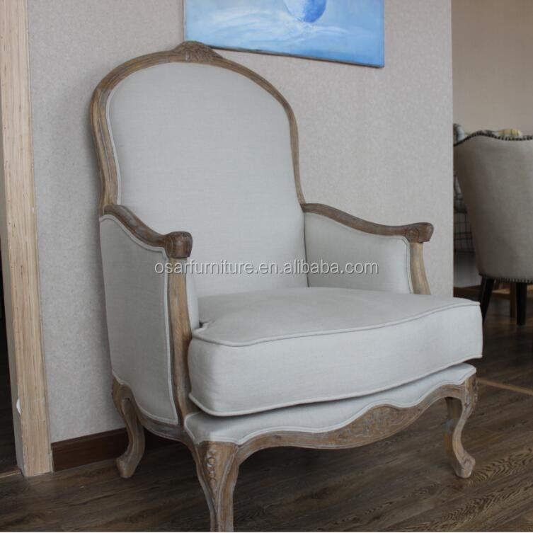 Solid oak wood living room arm chairs with good price