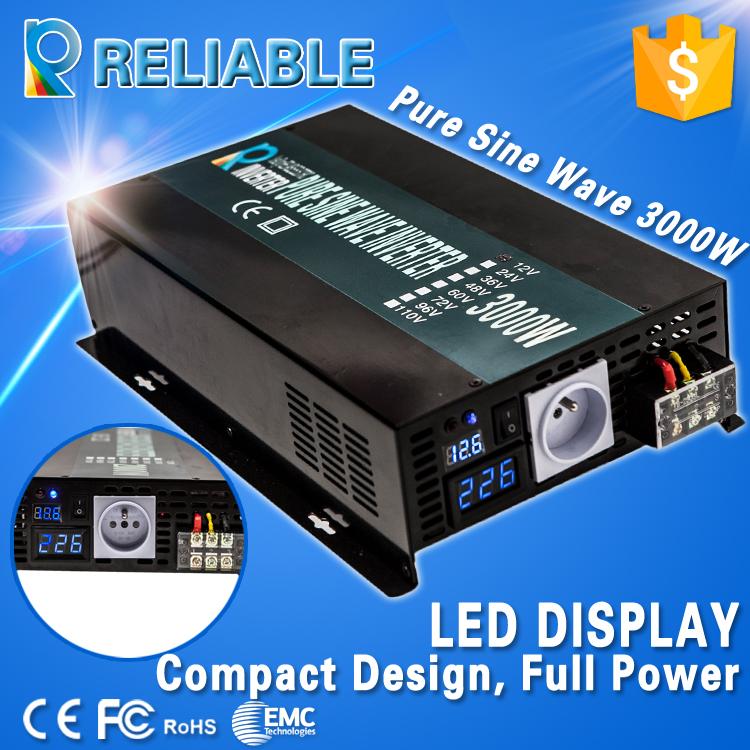 3000W Pure Sine Wave Inverter12V/24V to 220/240V Car Power Inverter LED Display, FULL POWER, FREE SHIPMENT