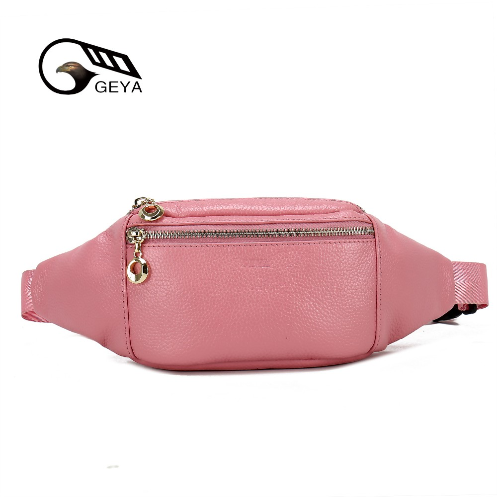 2019 factory directly custom leather women waist bag with cute color