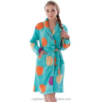 Women Coral Fleece Warm Bathrobe Plus Size Adult Onesie Nightgown