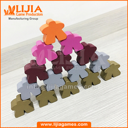 Multi color wooden meeple for board game card game wooden token