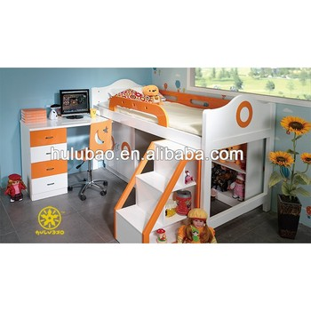 Kids Bedroom Set With Ladder Bed,Cabinet Desk,Showcase - Buy Ladder ...