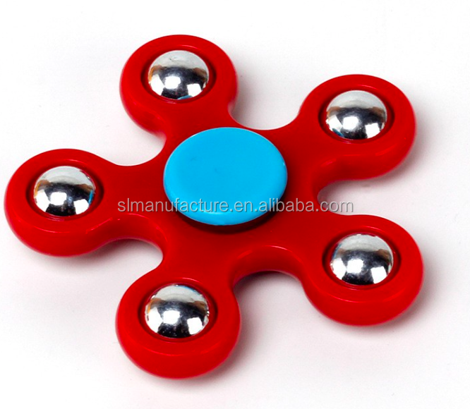 EDC spinner Five Angles Fidget Spinner Hand Spinner with Ceramic bearings For ADD ADHD Anxiety Autism