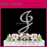 kids birthday party cake decorating idea Custom letter name rhinestone cake topper for children party