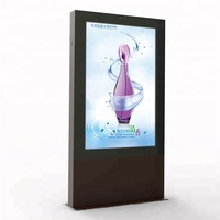 55 inch Outdoor free Wifi outdoor kiosk LCD media player advertising display TV enclosure