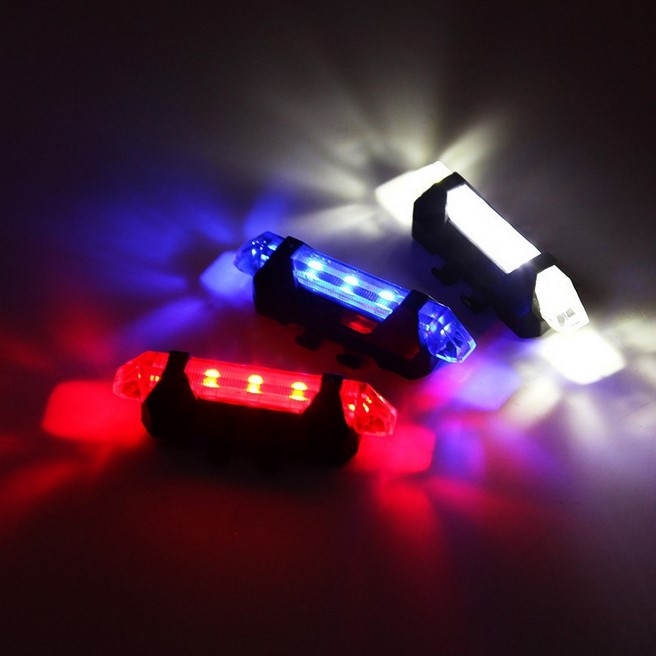 Portable Rechargeable LED USB Cycling Bike Light COB Tail Light Bicycle Rear Light, N/a