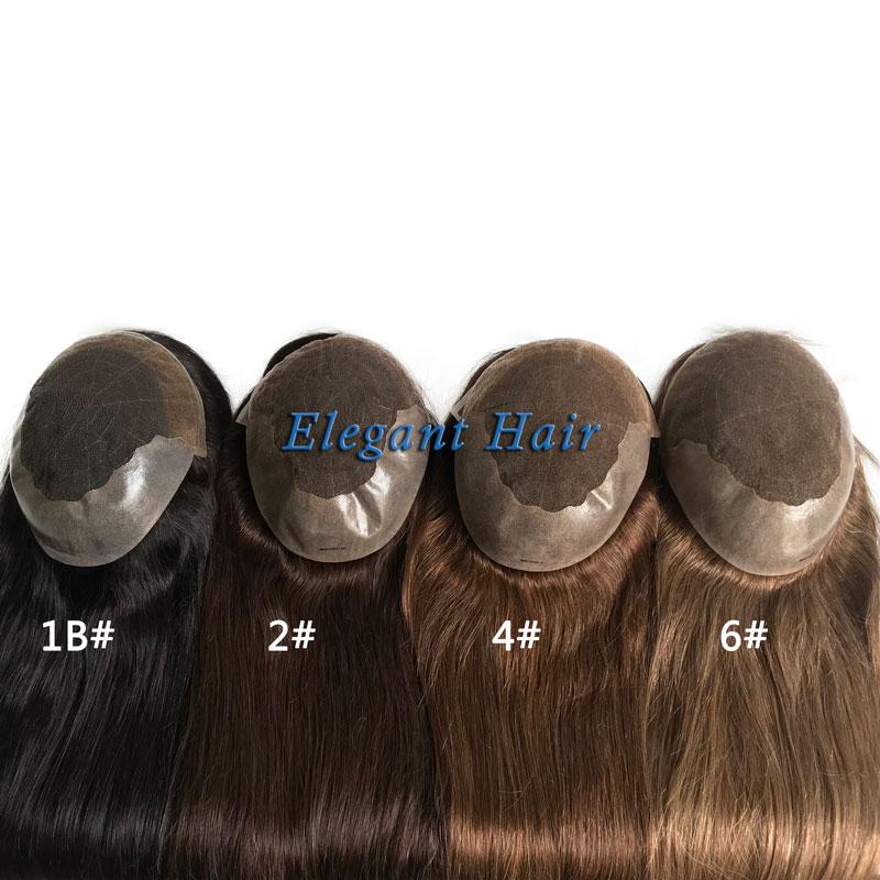 Stock long hair length human hair women toupee фото