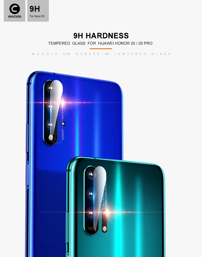 9H Hardness Anti-Fingerprint Mobile Phone Tempered Glass Screen Protector Phone Lens For Huawei Honor 20/20 Pro