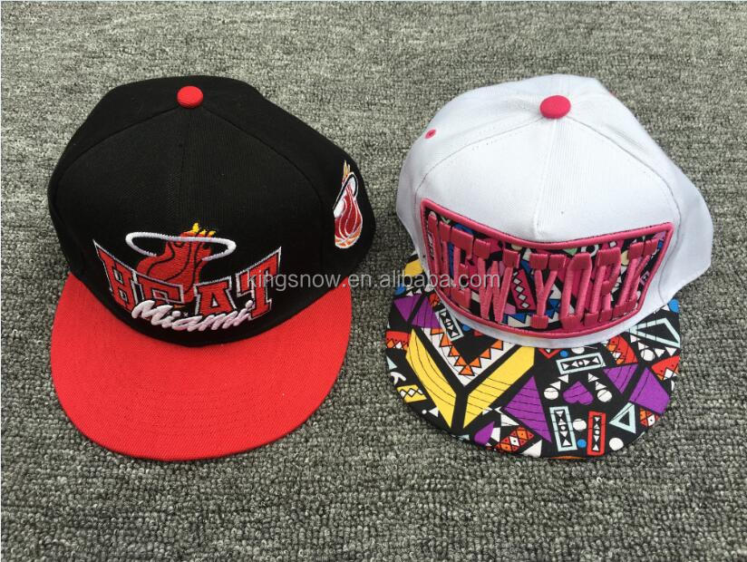 Manufacturer Wholesale Custom/Design Plain Black 3D Embroidery Cotton Twill FlexFit Snapback caps