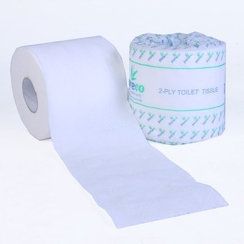 Factory Price 100% Recycled Pulp 1Ply Paper Toilet Roll Paper