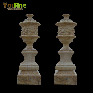 High Quality Hand Caved Life Size Stone Flower Pot