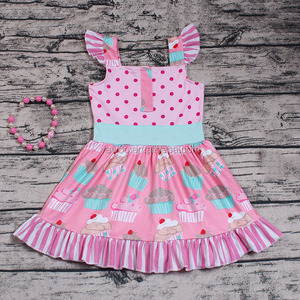 2017 yawoo flower girl cute cotton toddler birthday party little girls party dresses cupcake dresses