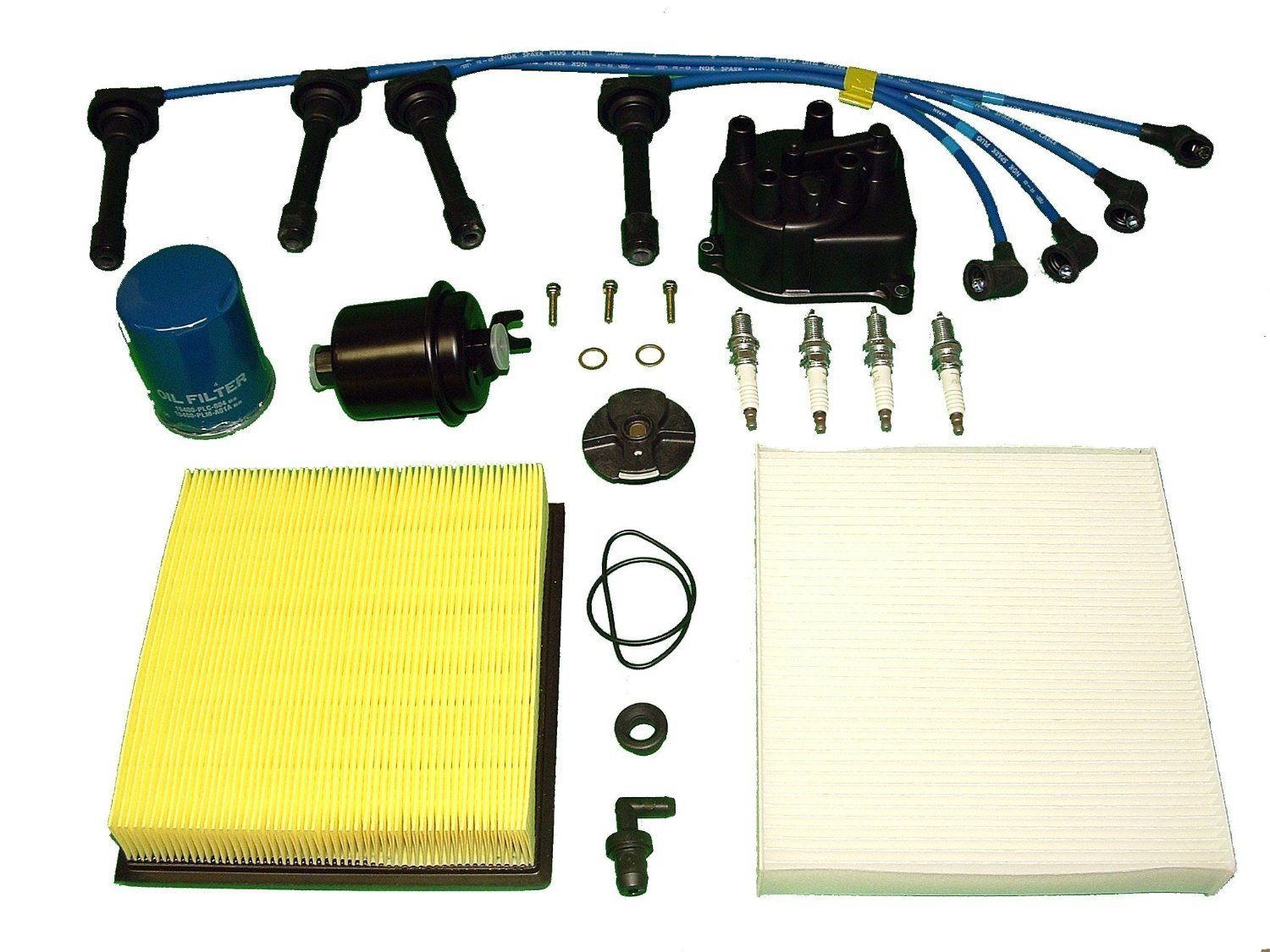 Get Quotations · Tune Up Kit Honda CRV 2000-2001 AIR FUEL OIL FILTERS CAP  ROTOR NGK PLUGS