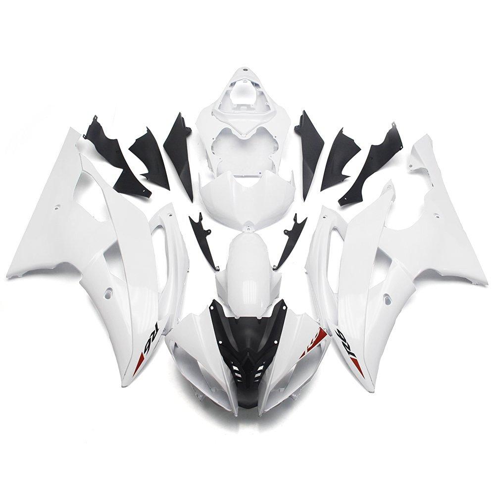 Sportfairings Fairing Kits For Yamaha YZF R6 08 09 10 11 12 13 14 15 ABS Motorcycle Body Kits Cowlings White Pearl Body Kits