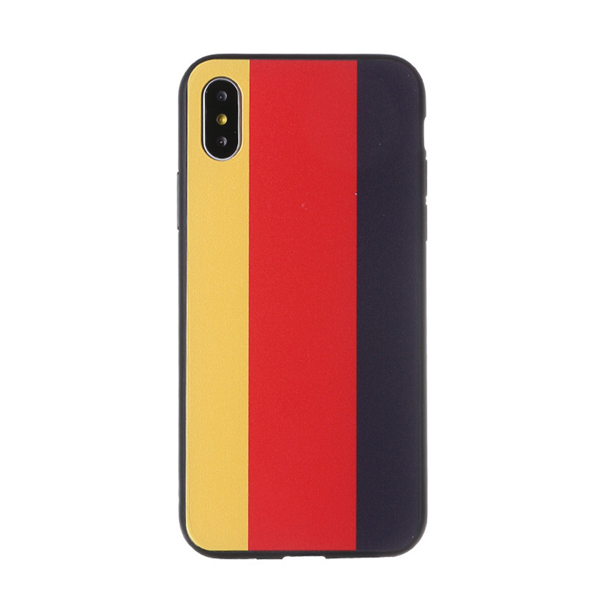 World Cup National Flag Embossed Mobile Phone Case Drop Protection Cover for iphone X/8/8p/7/6s/6p MK2598
