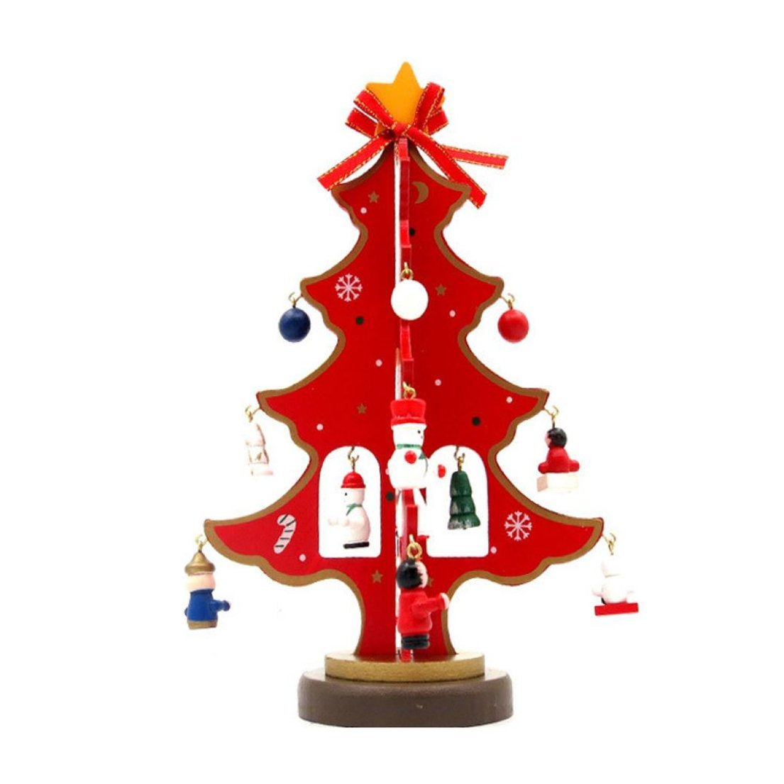 get quotations alonea hot xmas snow tree 23cm9inch small decoration tree on desk christmas trees - Walmart Small Christmas Tree